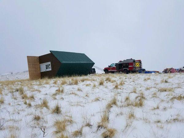 Tiny home blizzard