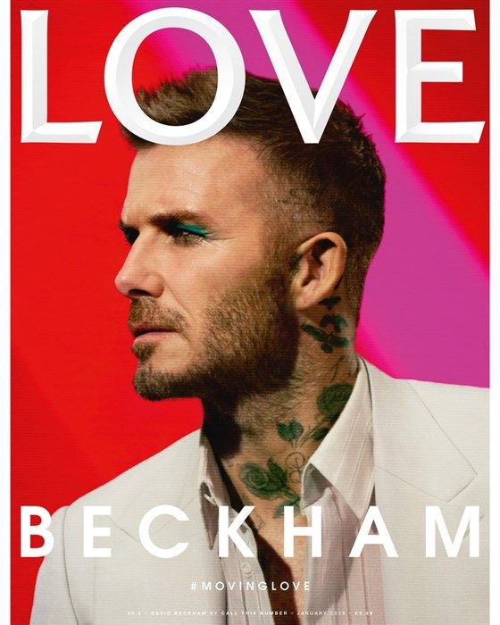 Beckham on the cover of Love magazine