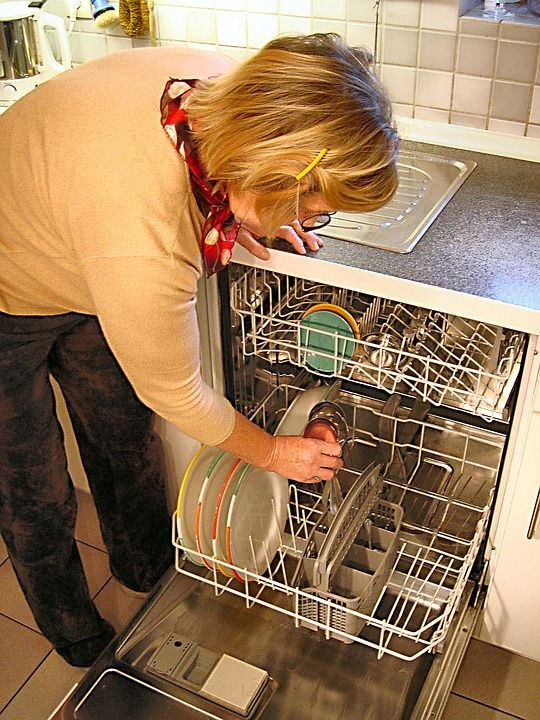 loading the dishwasher