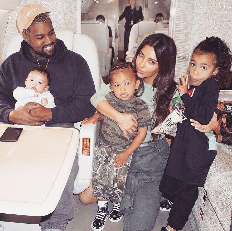 Kim Kardashian West, Kanye West and their kids