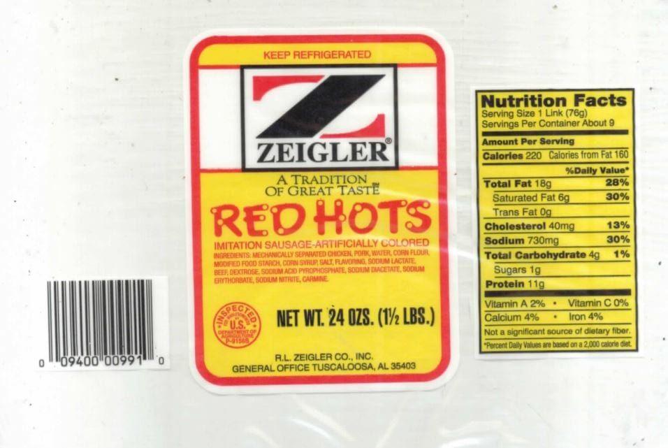 Ziegler Sausage recall