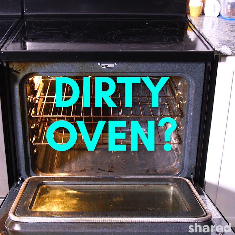 Dirty Interior of Stainless Steel Oven
