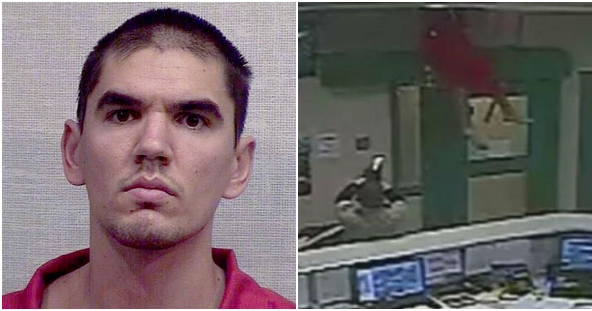 Watch: Inmate's Disastrous Escape Attempt Caught On Camera