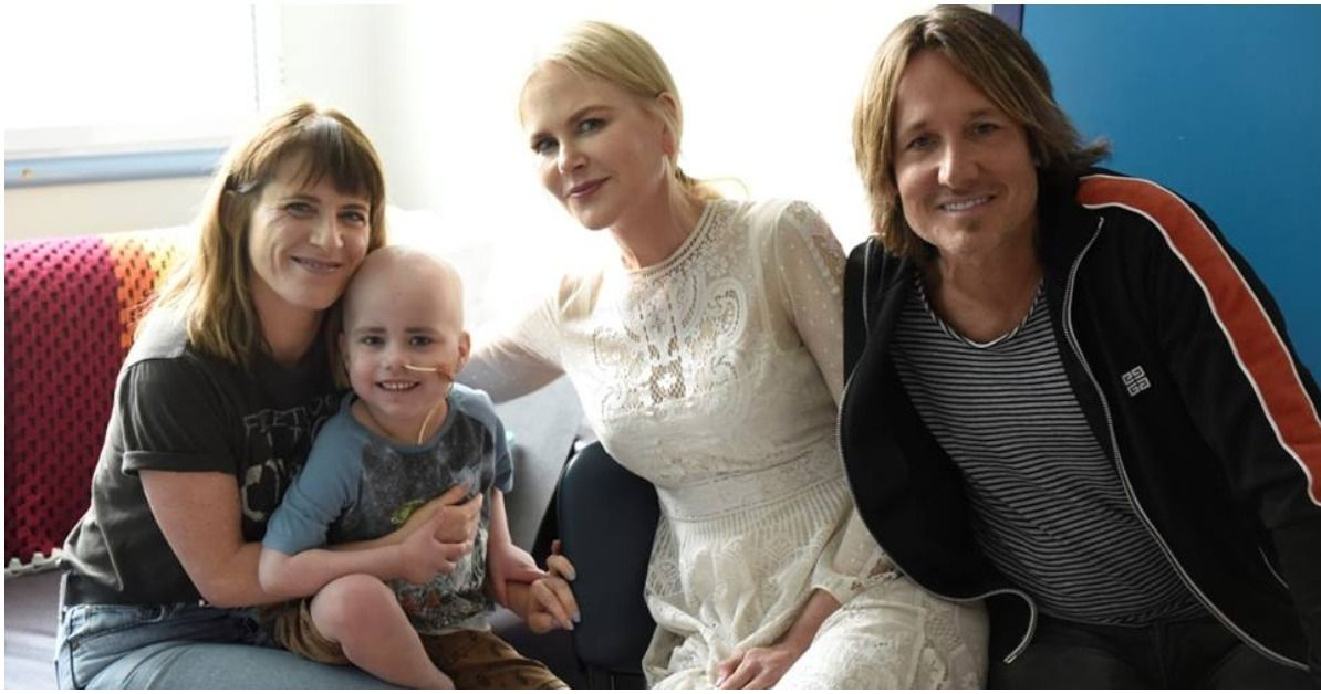 Nicole Kidman And Keith Urban Bond With Sick Kids In ...