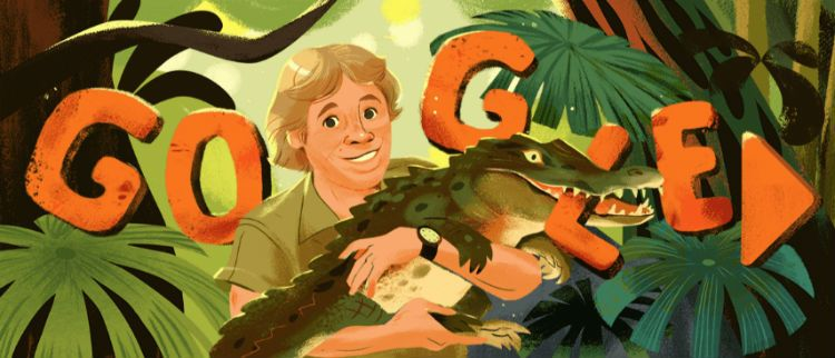 Image result for Google honours Steve Irwin with an adorable doodle