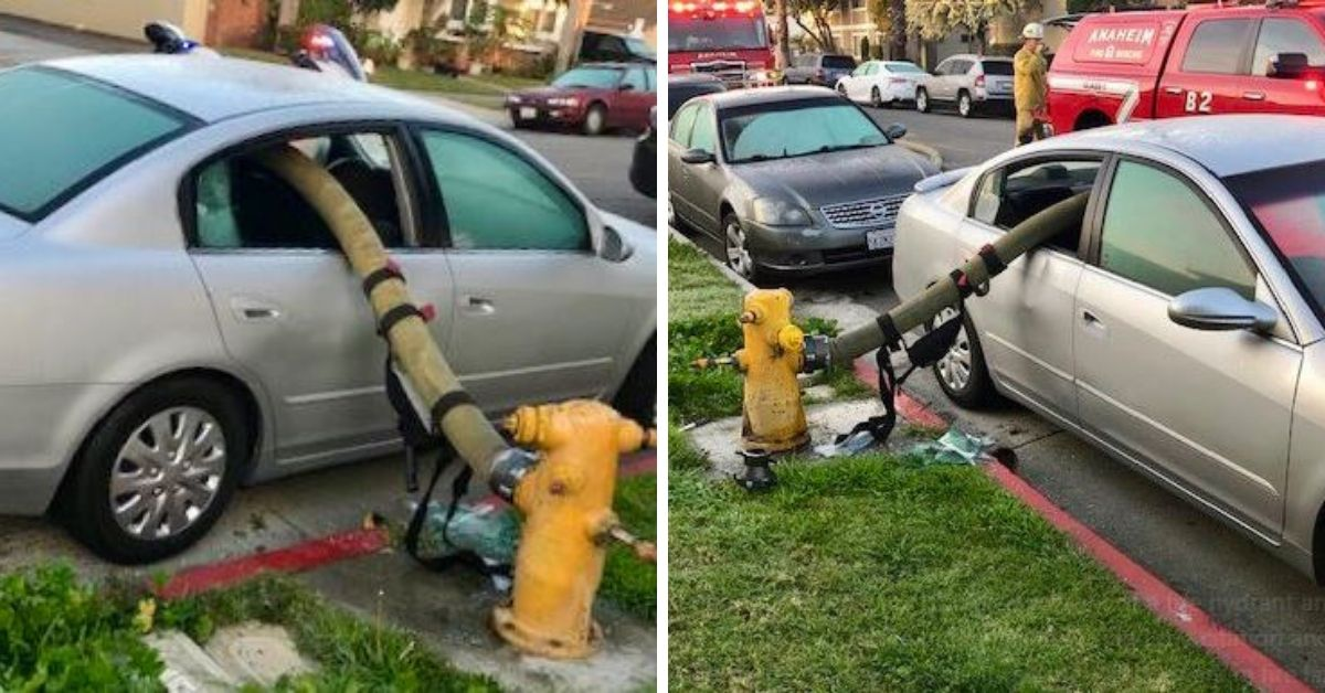 Here's Why You Don't Park Next To A Fire Hydrant