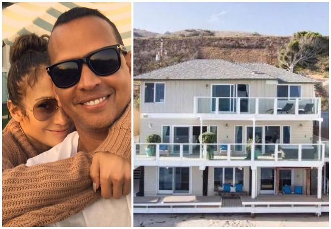 Alex Rodriguez Jennifer Lopez Malibu home