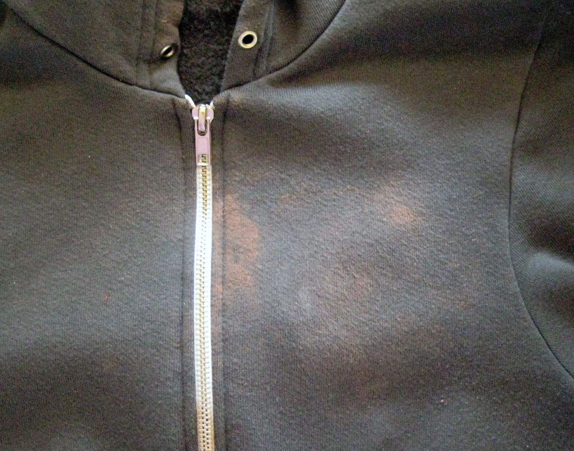 stains on hoodie