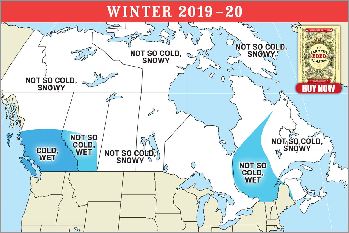 The Old Farmer's 2019-2020 Winter Forecast Has Arrived And